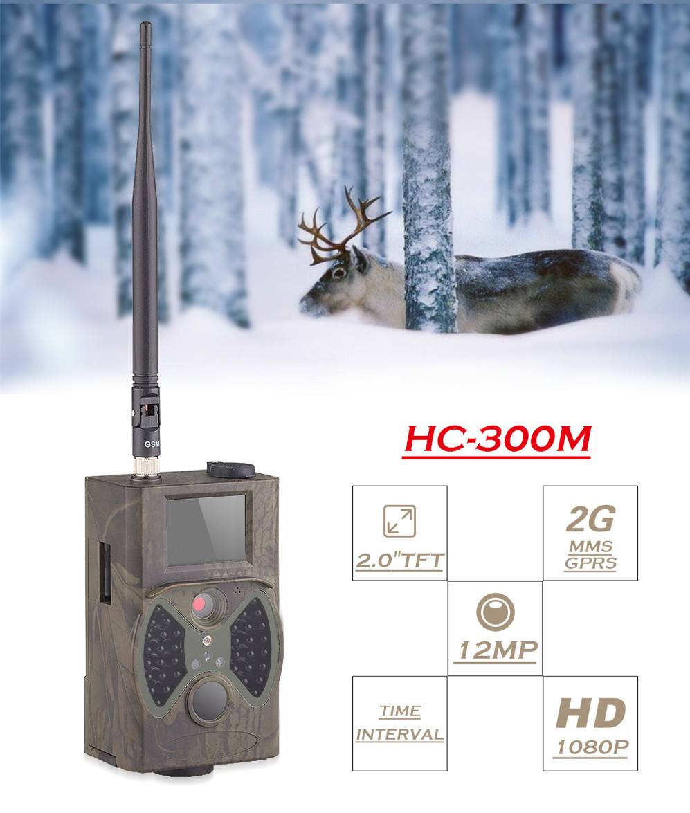 IR  Hunting Trail Camera Scout Guard 12MP 1080P Photo Traps HC300 Wild Camera 2G MMS GSM Photo-traps Hunting Chasse