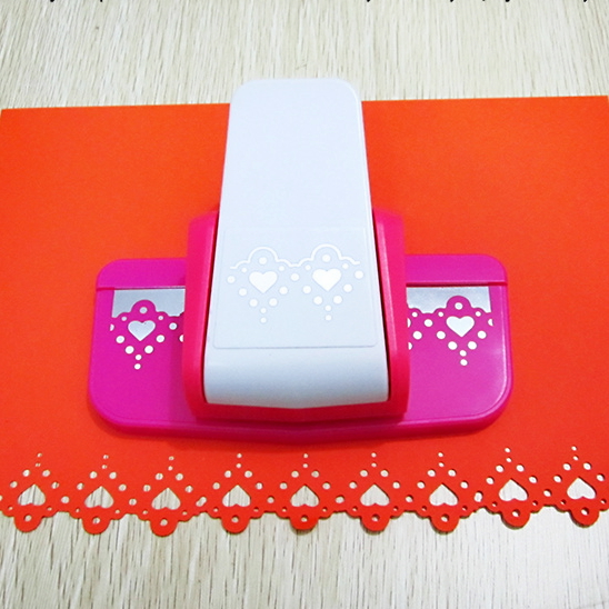 continuous sweet heart shape paper cut border punch DIY fancy tool for border cutting and DIY scrapbooking use diy border metal stencil plate carbon steel cutting die