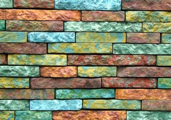 10pcs brik Plastic Molds for Concrete Plaster Wall Stone Cement Tiles Georgian brick