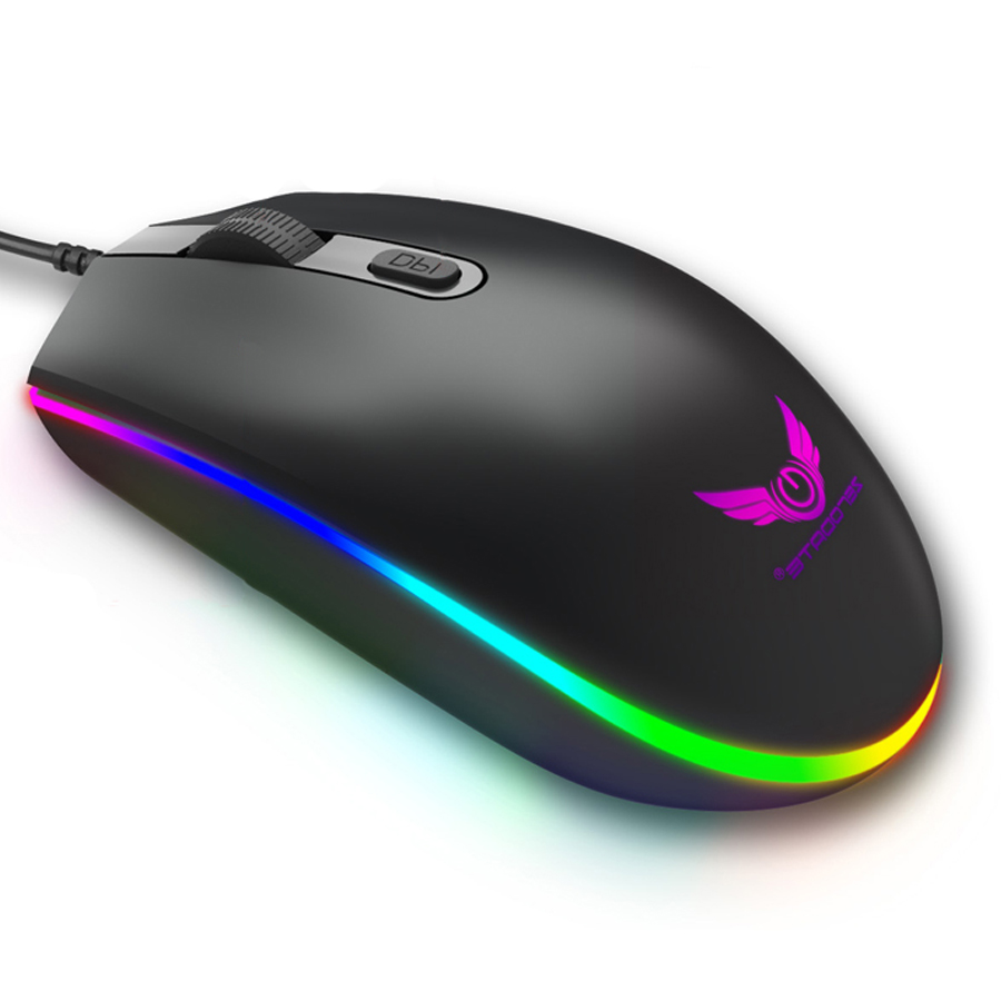 ZERODATE RGB Pro Gaming Mouse 4 Button Optical RGB USB Wired Computer Mouse Gamer Mice Game Mouse For PC Laptop Price $6.88