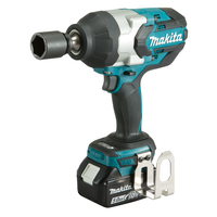 Makita 18V Lithium Battery Series Tool Cordless Impact Wrench Charging Brushless Electric Wrench 1000Nm Torque DTW1002RTJ