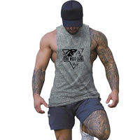 Workout Tank Top Men Printed Casual Stringer Gasp Singlet Mens Workout Tanks Fashion Tops Sexy Underwear Bodybuilding Clothes