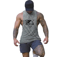 Workout Tank Top Mannen Gedrukt Casual Stringer Snik Singlet Heren Workout Tanks Fashion Tops Sexy Ondergoed Bodybuilding Kleding(China)