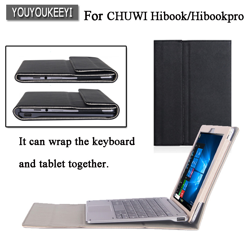 High-quality Original Business Folio stand cover case For CHUWI HiBook Pro / HiBook /Hi10 Pro 10.1 inch Tablet +gift original newest chuwi hibook docking keyboard docking station keyboard dock for 10 1 chuwi hibook pro hi10 pro high quality