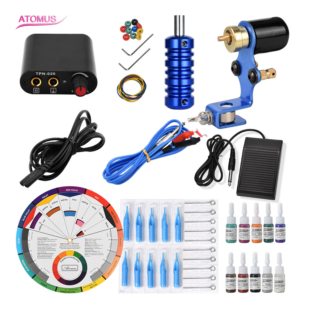 Tatouage rotatif Pro Tatoo Machine Para Tatuagem Herramientas De Maquina maquillage Permanent Set rotatif Fontes Tatuajes Tatto