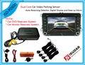 7 cor Dual Core Visual Car Video Sensor de estacionamento reverso sistema de Radar Digital e Step - up de alarme para DVD e TFT