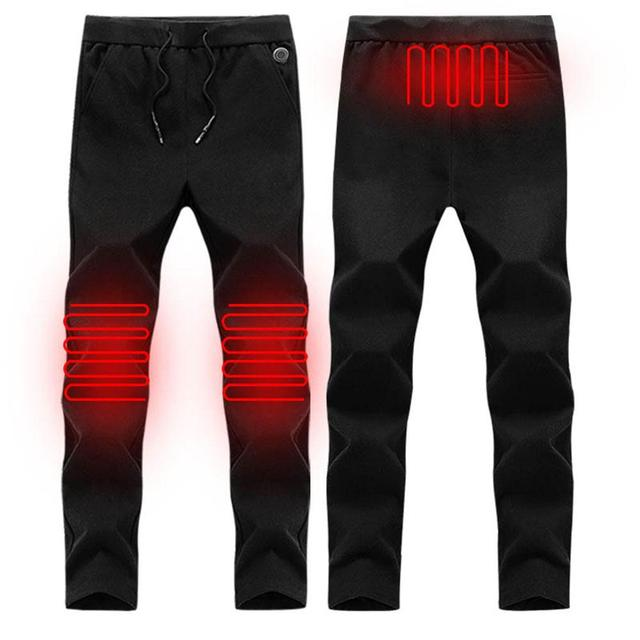 Electric Heated Warm Pants Men Women USB Heating Base Layer Elastic Trousers Insulated HeatedUnderwear for Camping Hiking