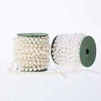 10m Pearls Beads Diy Curtain Engagement Bridal Shower Bachelorette Hen Party Wedding Table Centerpiece Bride Bouquet