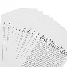 10 шт пустая бумажная полоса для 30 нот DIY рукоятка музыкальная шкатулка делает воспроизведение более плавным