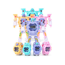 Robot Transformation Wristwatch Toy Mecha Electronic Watch Children Sports Cartoon Watches Kids Education Toys