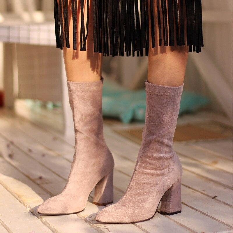 Peau Boot Zipper 2018 rose Doublure Pour Véritable Noir En Chamois Cheville Velours Chaud Bottines De Femme Femmes Hiver Bottes 8vPy0wOmNn