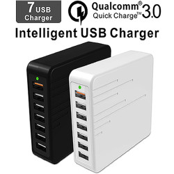 Cargador USB Multiple USB Charger Adapter Intelligent USB Desktop Charge Movil Fast charging 7 Port Multi  Mobile Device Charger