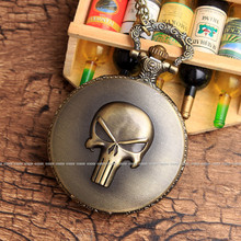 One Piece Skeleton Vintage Skull Pocket Watch
