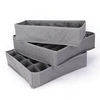 Новые 3 шт./партия 3 в 1 бамбуковая коробка для хранения Контейнер делитель ящика с крышкой коробки для шкафов для галстуков носки для девочек...