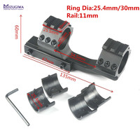 MIZUGIWA Hunting Heavy Duty Cantilever Rifle Scope Mount Dual Ring 20mm 30mm Picatiiny Rail 20mm Weaver