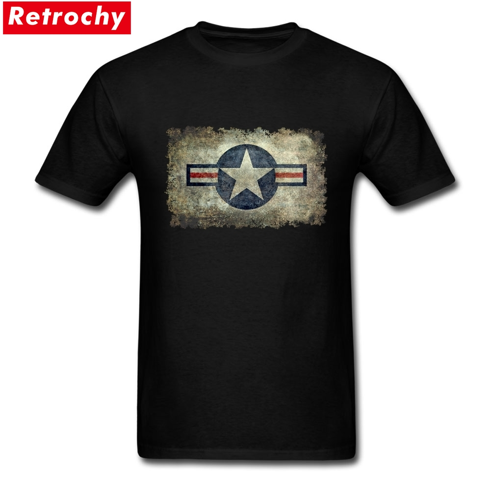 uk availability fe4ce f45dc US $12.54 43% OFF Retro Grunge Air force style star Online Tshirt Design  Geek Tshirts Team Short Sleeve Cotton Plus Size-in T-Shirts from Men's ...