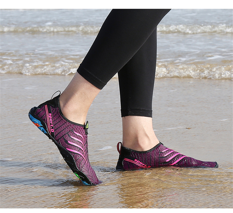 036b35c5bc435d Aqua Shoes Summer Shoes Men Breathable Rubber Sneakers Adult Beach Slippers  Upstream Shoes Woman Swimming Sandals Diving Socks-in Upstream Shoes from  Sports ...