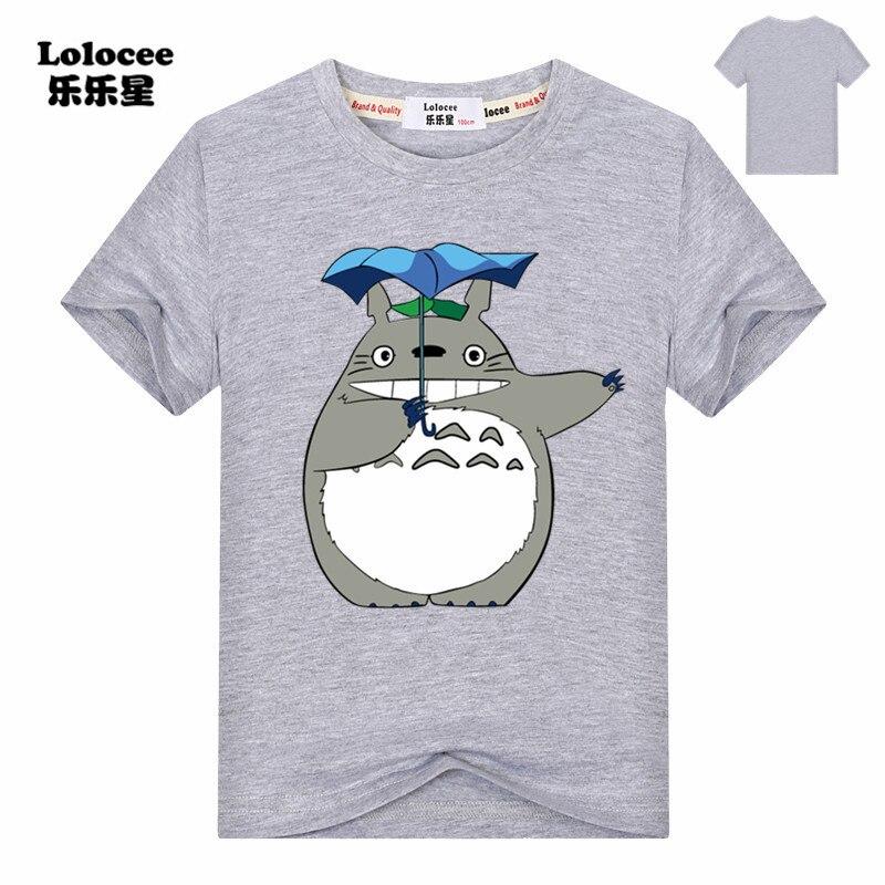 Cartoon Totoro T Shirt harajuku Summer 2018 Short Sleeve Kids Graphic Tees Tops Girls Tshirt Cute Tees for Boys 3-14y