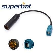 Superbat DAB+ FM AM антенный разъем DIN мама к Fakra Z антенный сплиттер DIN Кабель-адаптер 15 см для автомобильного цифрового радио