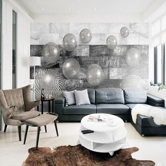 3d Benutzerdefinierte Fototapete Modernen Minimalistischen Schwarz Weiß  Abstrakte Wandbild Schlafzimmer Wohnzimmer Interior Wände Dekorieren