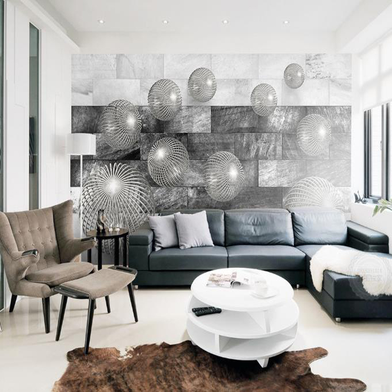 US $21.99 45% OFF|3d custom moderne foto tapete minimalistischen schwarz  weiß abstrakte wandbild schlafzimmer wohnzimmer interior wände  dekorieren-in ...
