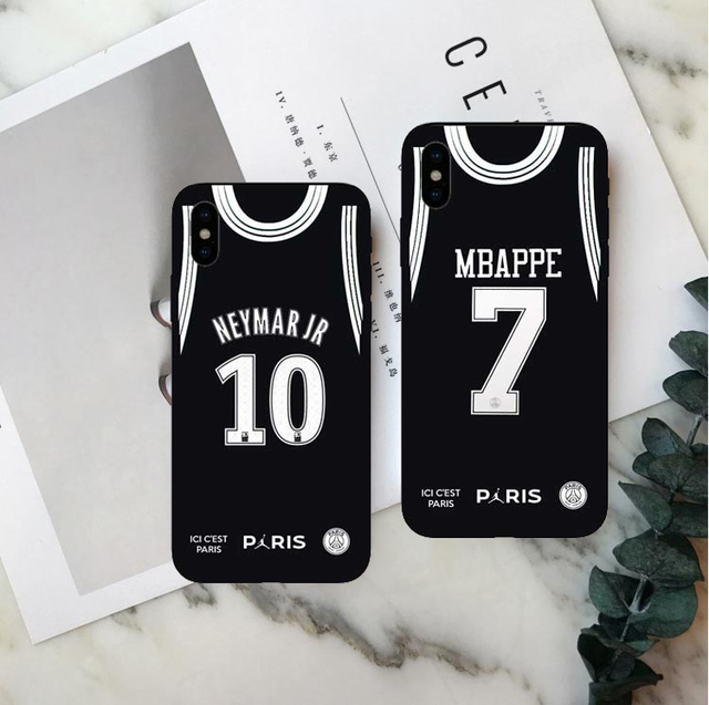new products 2f9f1 82268 US $1.0 |PSG Paris Football Jersey Jordan Sport Print Soft TPU For iPhone  MAX XR XS X10 5 5S 5SE 6 6S 6PLUS 7PLUS 8PLUS -in Phone Pouch from ...