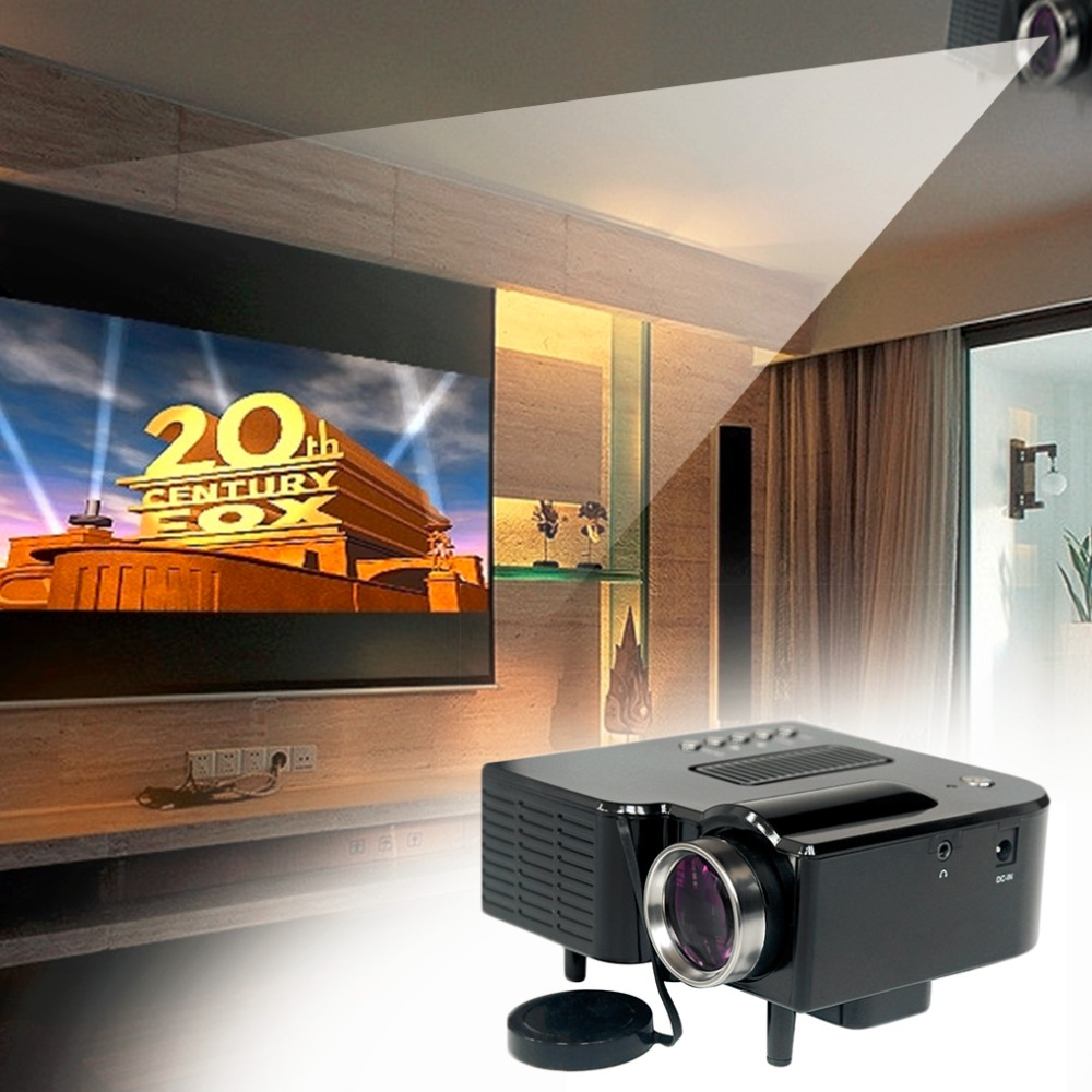 Uc28 pro hdmi portable mini lcd projector full hd home for Portable hdmi projector reviews