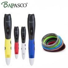 Hot Sale 3D Pen Original BAPASCO 3D Printing Pen Add Free ABS/PLA Filaments USB 5V/2A 3D Magic Pen For Kids Intellignet Drawing