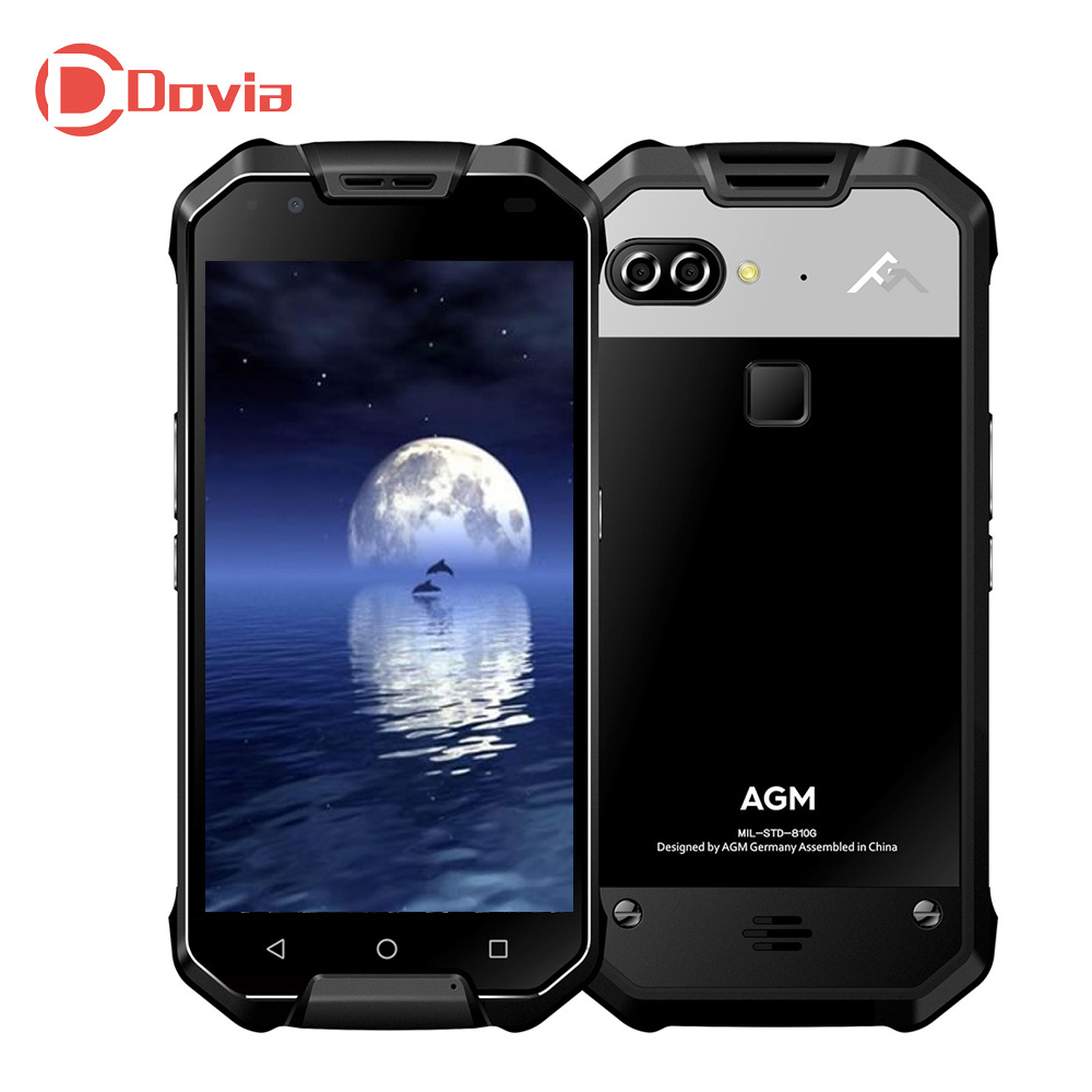 AGM X2 4G <font><b>Cellphone</b></font> Android 7.1 Qualcomm Snapdragon 653 Octa Core 1.95GHz 6GB+64GB Dual 12.0MP Rear Cameras <font><b>6000mAh</b></font> Mobilephone