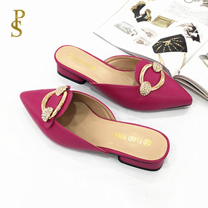 Image 4 - Womens shoes in summer PU sole slippers for ladies Womens pointed shoes