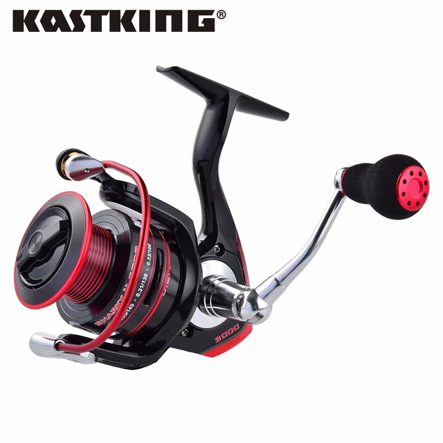 KastKing Sharky II New Water Resistant Carbon Drag Spinning Reel with Large Spool 19KG Max Drag Freshwater Spinning Fishing Reel