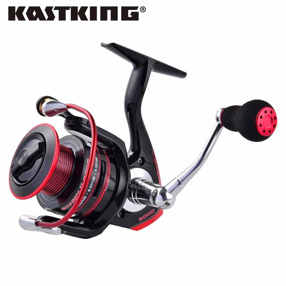 KastKing Sharky II New Water Resistant Carbon Drag Spinning Reel with Large Spool 22KG Max Drag Freshwater Spinning Fishing Reel piscifun 2017 new venom extra spool water resistant spinning reel max drag 12kg carbon drag 10 1 bearings carp spinning reel