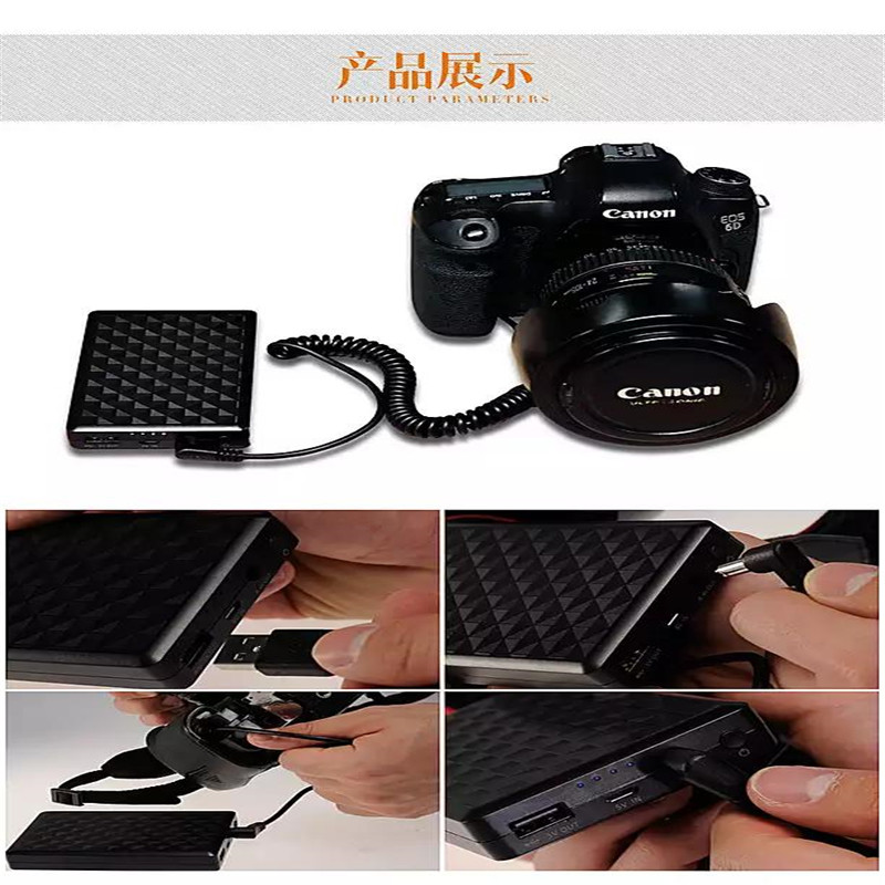 LP-E6 LP-E6N Lithium Batteries pack External power LPE6 Digital DSLR Camera Mobile Power For Canon 60D 70D 5D 6D 7D Mark II III