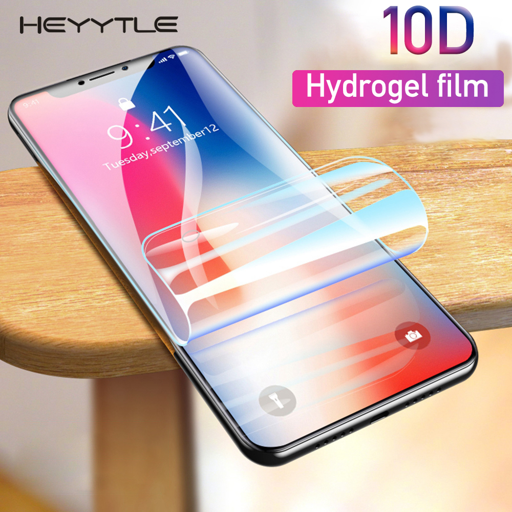10D Soft Hydrogel Protective Film For iphone 8 7 Plus X XS MAX XR Full Cover Screen Protector For iphone 6 6S Plus 10 Front Film10D Soft Hydrogel Protective Film For iphone 8 7 Plus X XS MAX XR Full Cover Screen Protector For iphone 6 6S Plus 10 Front Film