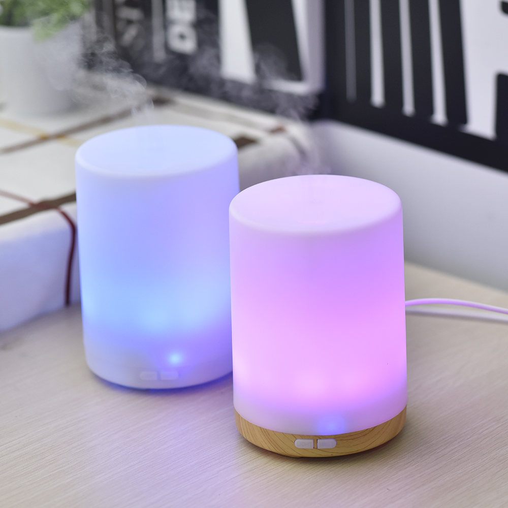 200ML Ultra Quiet Design Air Humidifier With Negative Ion Technology Electric Aroma Essential Oil Diffuser With Colorful Night Light