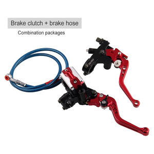 Image 2 - A Pair Hand Brake Clutch Hot Motorcycle Modified Universal Hand Brake Accessories Brake Clutch Assembly+ 96CM Brake Pipe