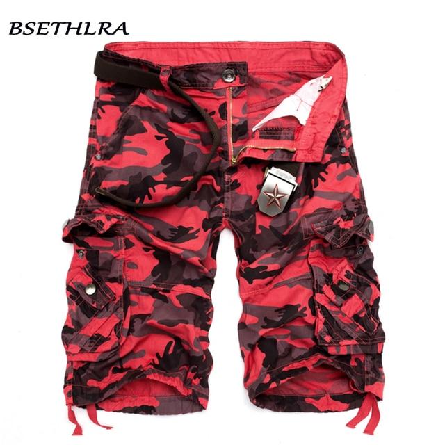 BSETHLRA 2018 шорты-карго Для мужчин Летний Лидер продаж Повседневное мужской шорты военные хлопковые камуфляжные Дизайн модная брендовая одежда 29-40