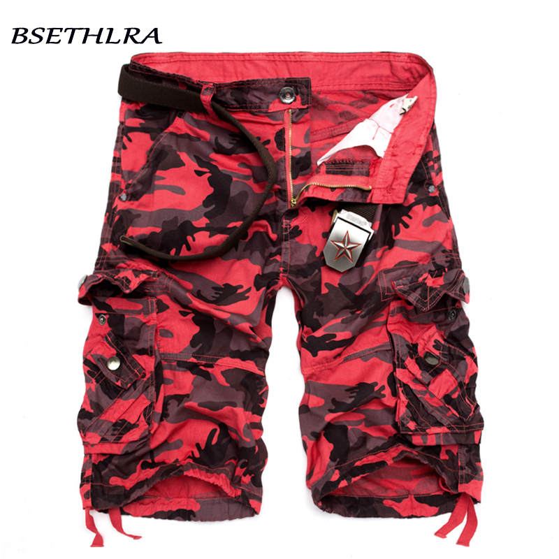 BSETHLRA 2018 Cargo Shorts Men Summer Hot Sale Casual Male Shorts Military Cotton Camouflage Design Fashion Brand Clothing 29-40