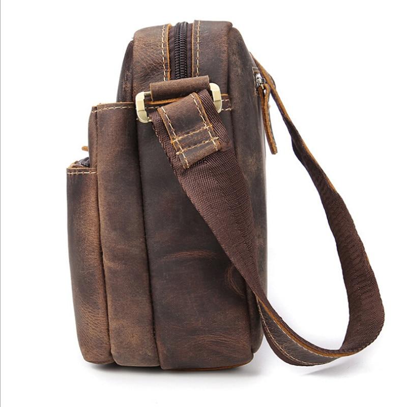 NEWEEKEND 98601-1 kulit asli vintaj gila kuda sedikit lembut zip - Beg tangan - Foto 2