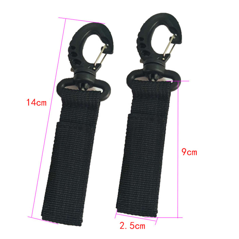 2Pcs Universal Mummy Buggy Clip Pram Pushchair Stroller Hook Shopping Bag Holder