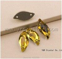 Свет Топаз 3254 лист 9x20 14x30 мм плоской задней Стразы пришить Камни Вышивание кристаллы цепи стразы камень одежды Бусины