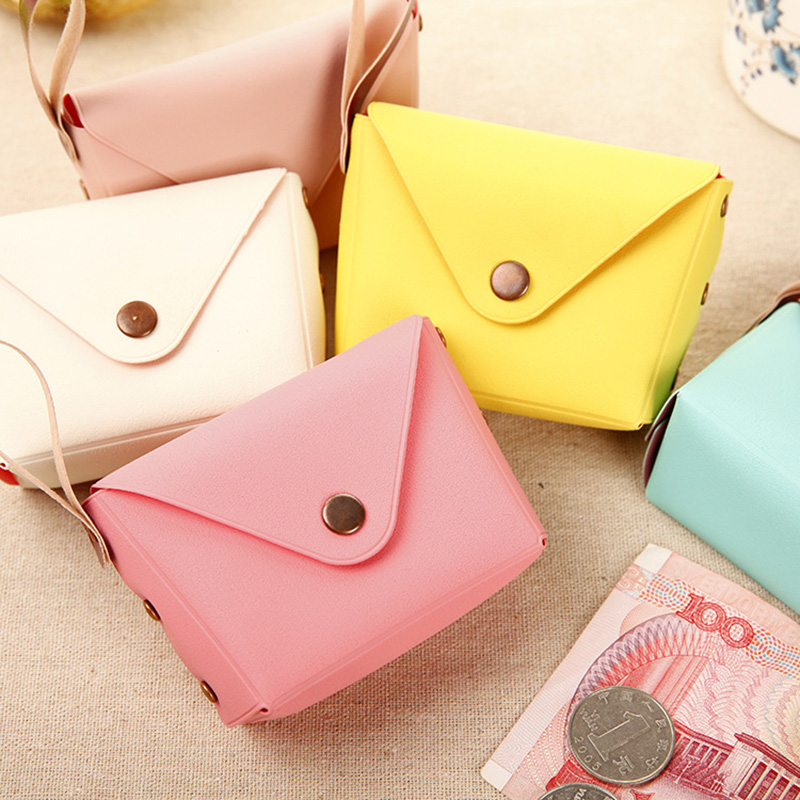 Fashion Hasp Coin Purse PU Leather Case For Women Girls Cheap Coin Pocket Candy Color Small Card Holder Money Bag Wallets cute cats coin purse pu leather money bags pouch for women girls mini cheap coin pocket small card holder case wallets