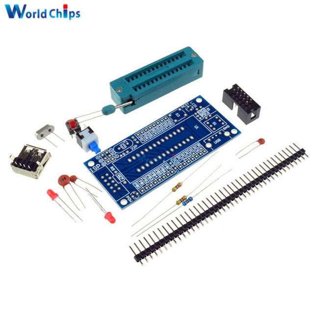 DIY Kit ATmega8 ATmega48 AVR Minimum System Development Board ...