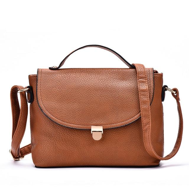 Vintage women PU Leather handbag cross body bags shoulder bag bolosa female casual women messenger bag purse and handbags