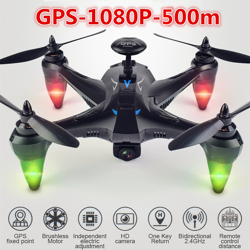 X198 GPS Drone with Camera wifi RC Quadcopter Drones with Camera Auto Return Follow Me GPS Altitude Hold Brushless RC Helicopter
