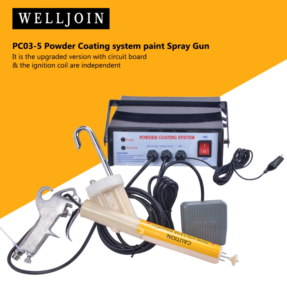 Ce Pc03-5 Free Ship With 5 Stage Adjustable New Portable Powder Coating System Paint Gun Coat Brand New Rh Tools