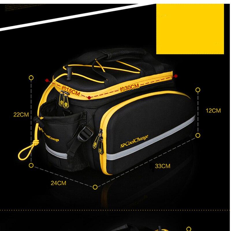 Купить с кэшбэком CoolChange Bicycle Rack Bag Reflective Bicycle Rear Seat Luggage Bag Cycling Travel Bag Rack Panniers Waterproof With Rain Cover
