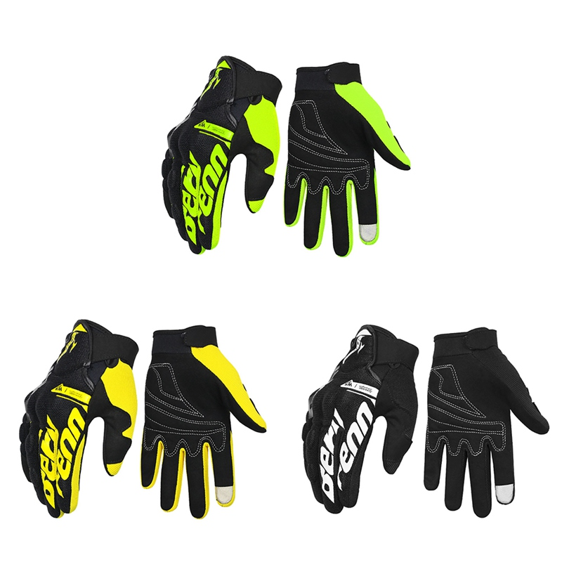 Cycling Gloves Summer Full Finger Gloves Thin Breathable Touch Screen Motorcycle Riding Protective Glove in Cycling Gloves from Sports Entertainment