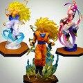 Dragon Ball Z Figuras de Ação Goku Majin Buu Gotenks Figuarts ZERO Super Saiyan 160mm Anime PVC Coleção Toy