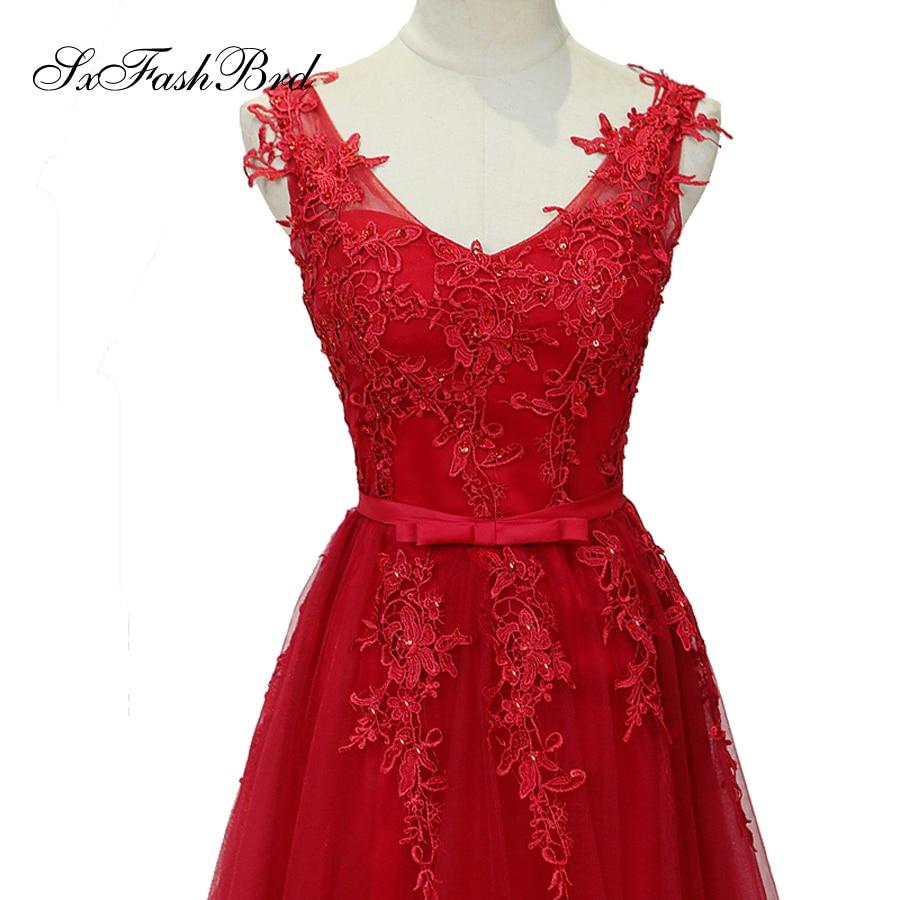 Vestido De Festa V με λαιμό με τις εφαρμογές - Ειδικές φορέματα περίπτωσης - Φωτογραφία 4